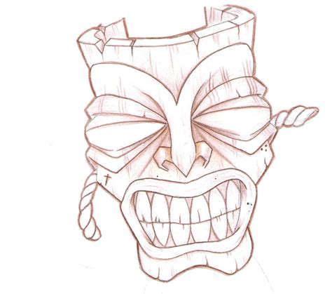 tattoo designs and drawings tiki mask design by punkvernie on deviantart