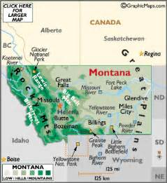 geographic id map montana map geography of montana map of montana