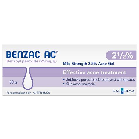 Ac Gel buy ac 2 5 mild acne gel 50 g by benzac priceline