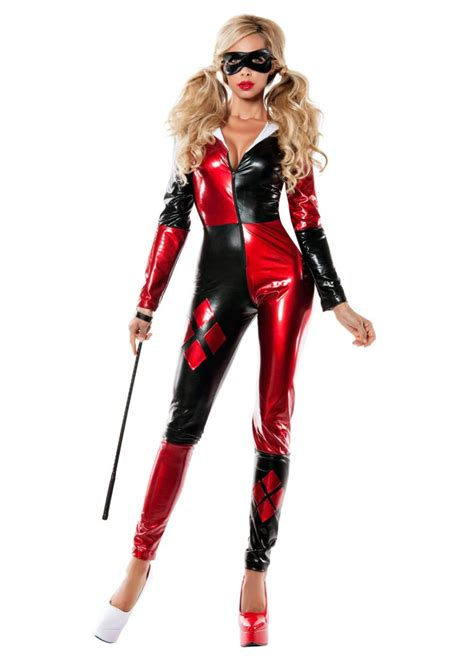 harley quinn costume classic harley quinn catsuit womens costume costumes