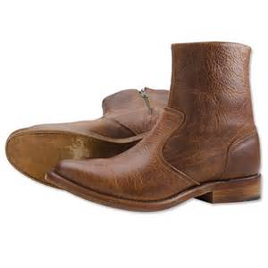 Comfortable Company by S Leather Boots Bison Leather Zip Boot Orvis