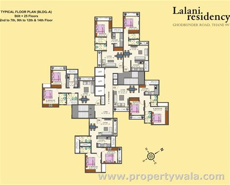 typical floor plan of a house lalani residency ghodbunder road thane residential