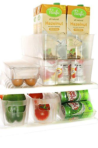 Stackable Pantry Containers by Perlli Fridge And Freezer 6 Storage Organizer Bins