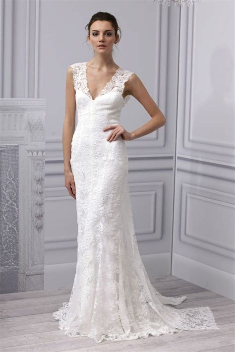 hochzeitskleid einfach simple wedding dress with beautiful lace sang maestro