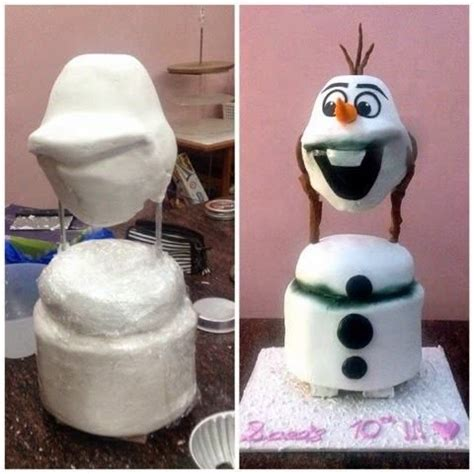 easy and olaf tutorial 1000 images about torta modelo frozen on elsa frozen cake fondant olaf and paper