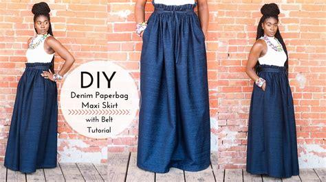 Maxi Aida Denim Part 2 diy denim paper bag maxi skirt with belt part 2