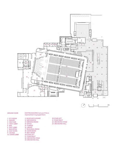 orchestra floor plan minnesota orchestra kpmb architects archdaily