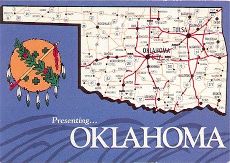 tulsa usa map state postcard collection