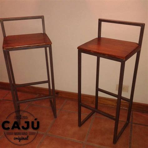 banquetas altas banquetas altas en hierro y madera de caj 250 mobiliario