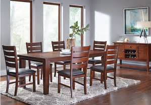 dining room sets for 6 lake tahoe brown 6 pc rectangle dining room dining room