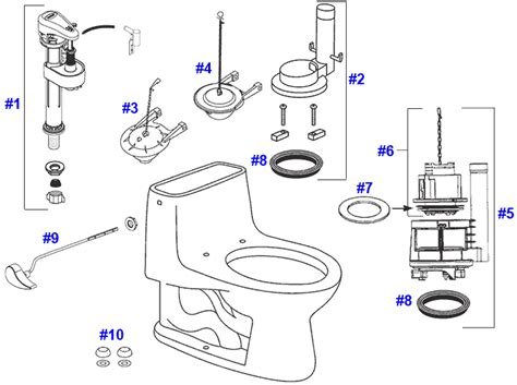 Toto Plumbing Parts by Toilet Parts Home Decor Xshare Us