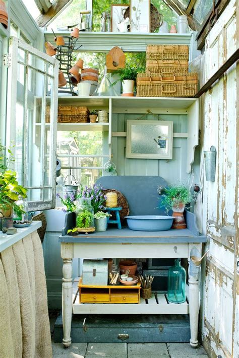 build  greenhouse  potting garden shed   windows