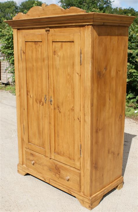 Unfinished Pine Armoire by A Fantastic 19th Century Antique German Solid Pine Armoire