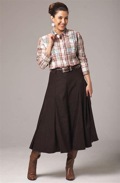 gaucho in brown western wear by n