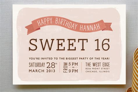 Sweet 17 Invitation Card Template by Cards Wedding Invitations Wall Minted