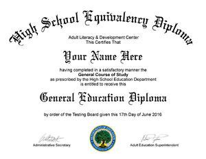Electronic Pdf Fake Ged High School Diploma Ebay Maryland High School Diploma Template