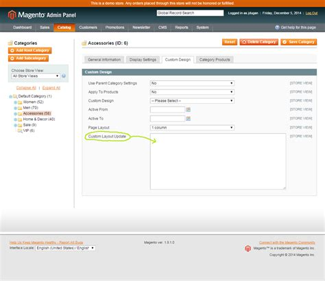 magento category custom layout update exle getting familiar with magento callout blocks