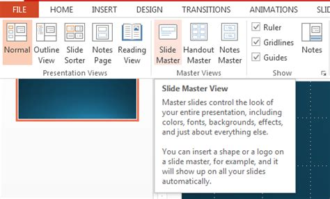 word layout master how to customize a slideshow using slide master in