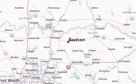 bonham texas map bonham location guide