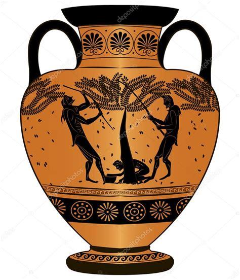 vasi greci antichi vaso antico grecia vendemmia vettoriali stock 169 aloxa