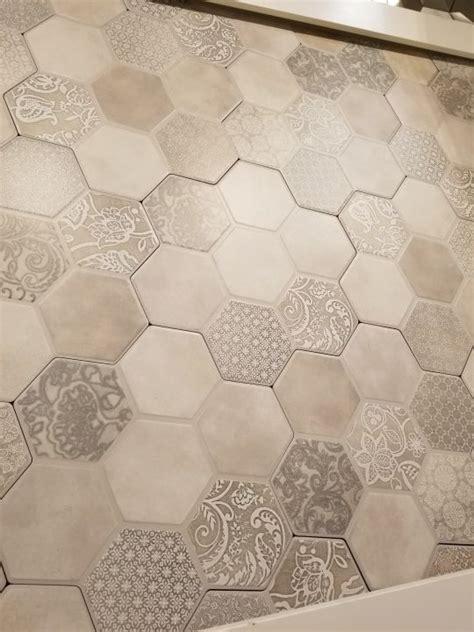 hexagon tile flooring emser virtue gray  sale