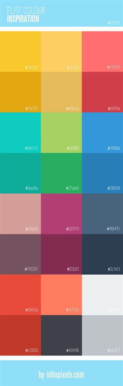 Design Inspiration By Color | flat colour inspiration for web design via infinpixels