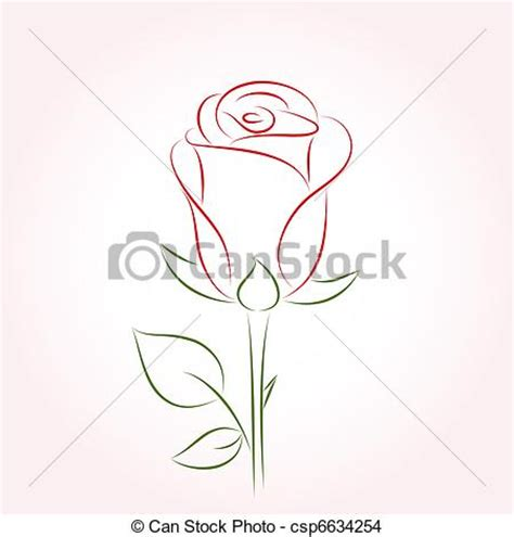 eps vector of single red rose on a pink background