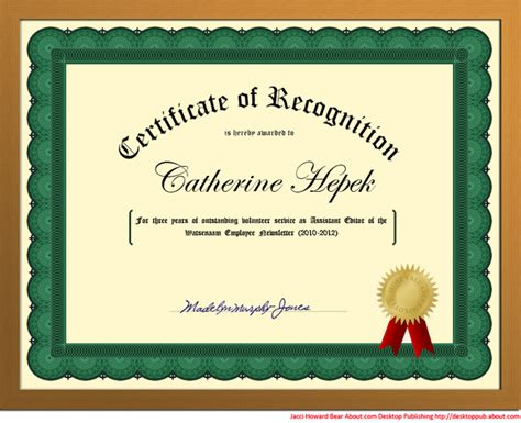 how to create a certificate template create a certificate of recognition in microsoft word