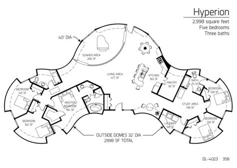 floor plans multi level dome home designs monolithic dome shaped house floor plans