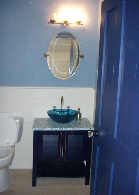 unique bathroom decorating ideas bathroom cool tiny designs with unique blue vase wash