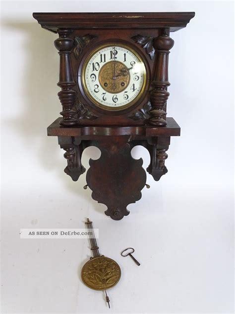 antike wanduhren regulatoren antike wanduhr regulator mit dunklem korpus sch 246 n verziert