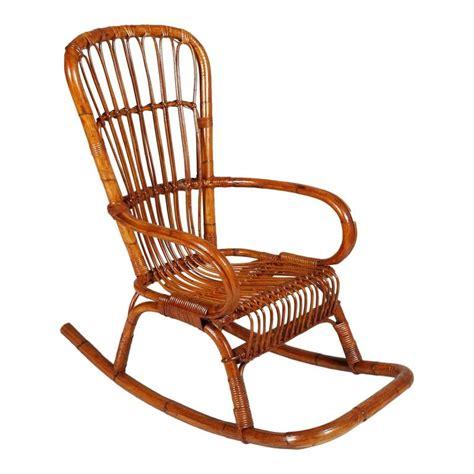 midcentury modern rocking chair italian mid century modern bamboo rocking chair