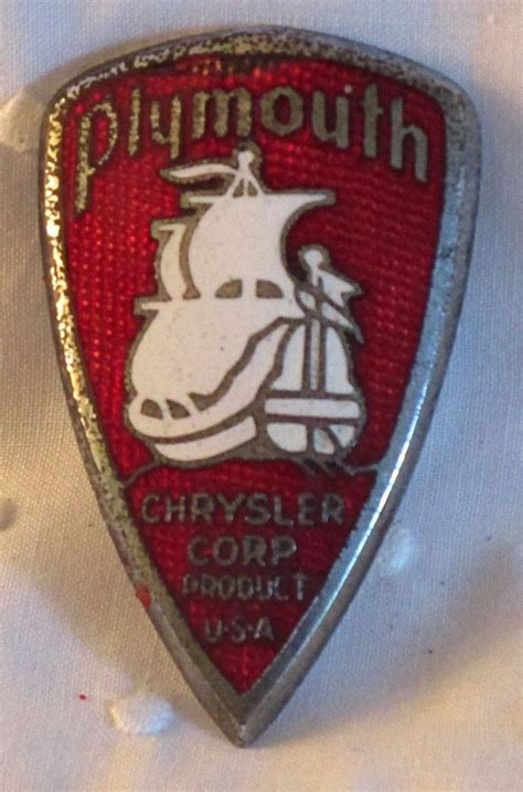 plymouth emblem 1930 s white plymouth chrysler grille badge auto