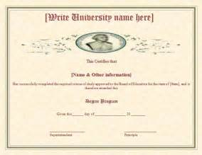 doctorate certificate template degree certificate template sles and templates