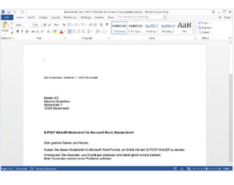 Brief Word Schreiben E Post Mailer Briefe Schreiben Und Dateien Speichern Epost De