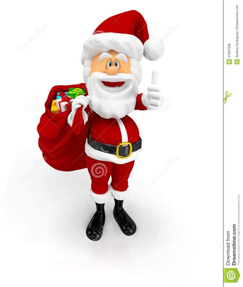 3d santa with thumbs up royalty free stock photos image