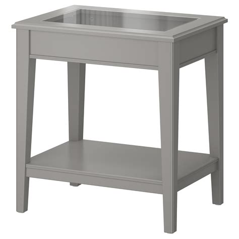 Ikea Side Table Liatorp Side Table Grey Glass 57x40 Cm Ikea