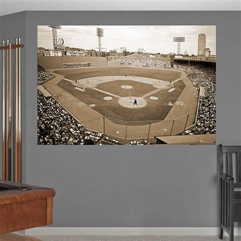fenway park wall mural inside fenway park historical mural wall decal shop fathead 174 for boston sox decor