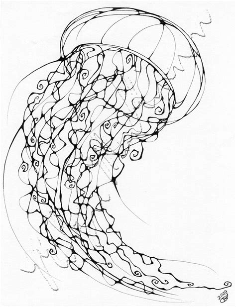 jellyfish coloring page for adults inkblot jellyfish by chimeradreams on deviantart