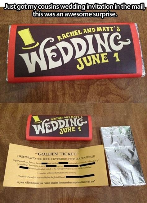 And The Chocolate Factory Wedding Invitations