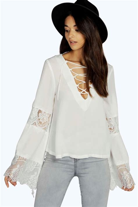 Lace Bell Sleeve Blouse buy cheap white lace blouse compare s tops prices