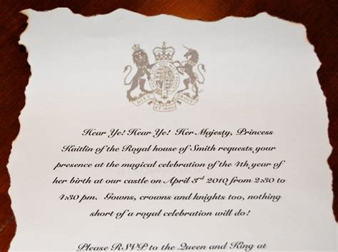 royal invitation template mkhkkh princess kaitlin s royal birthday