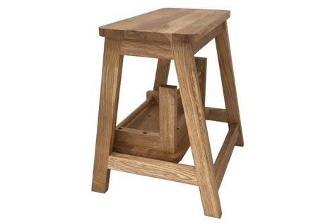 Oak Step Stool Chair by Wooden Step Stool Futon Company