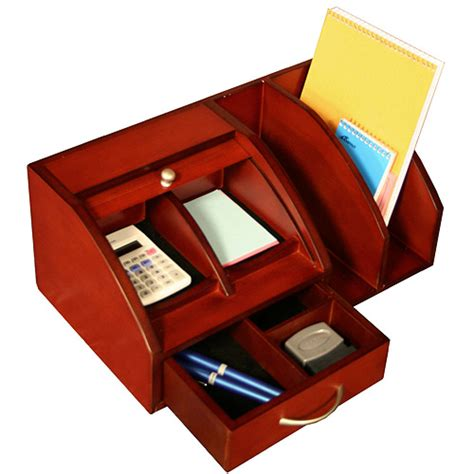 Roll Top Desk Organizer With Mail Slots In Desktop Organizers Roll Top Desk Organizer