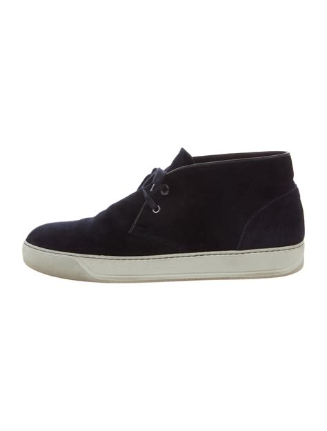 lanvin mid top sneakers lanvin suede mid top sneakers shoes lan61182 the