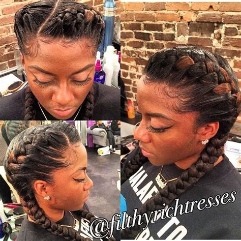 Two Braids Black Hairstyles by 25 Best Ideas About Two Goddess Braids On 2