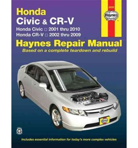 free car repair manuals 2002 honda civic interior lighting honda civic crv automotive repair manual sagin workshop car manuals repair books information