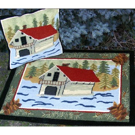 boat house pillows and rugs