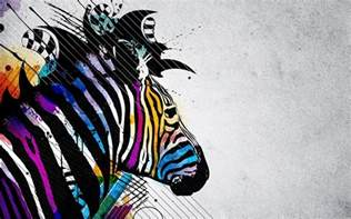 colorful zebra zebra desktop backgrounds wallpaper cave