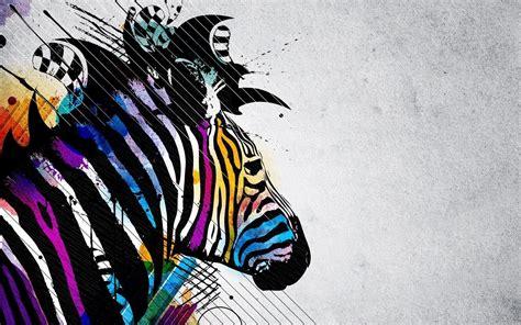 colorful zebra wallpaper zebra desktop backgrounds wallpaper cave